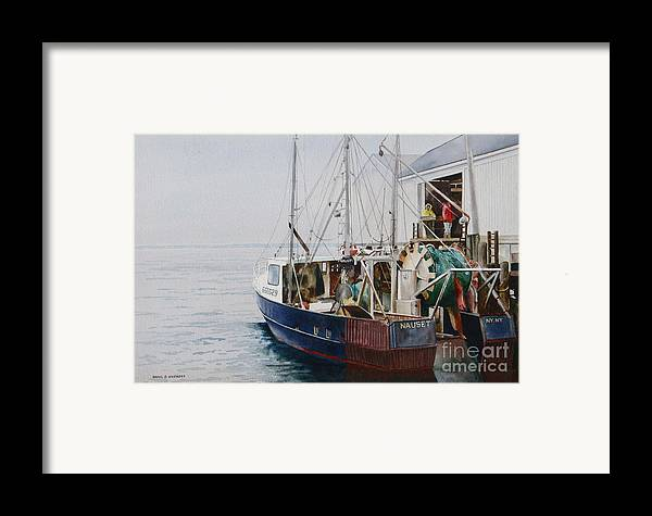 Fog Framed Print featuring the painting The Dragger by Karol Wyckoff