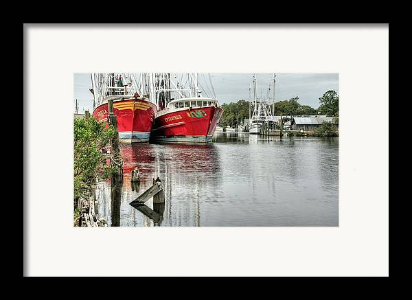 Bayou La Batre Framed Print featuring the photograph The Enterprise by JC Findley
