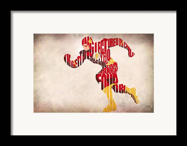Flash Framed Print featuring the drawing The Flash by Ayse Deniz