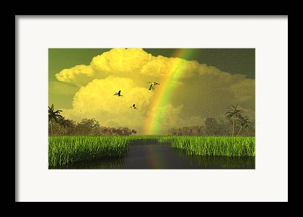 Florida Framed Print featuring the digital art The Gift Of Light by Dieter Carlton