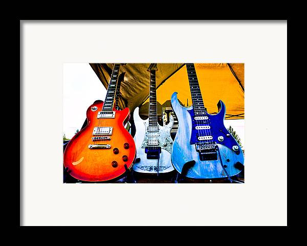 The Kingpins Framed Print featuring the photograph The Guitars Of Jimmy Dence - The Kingpins by David Patterson