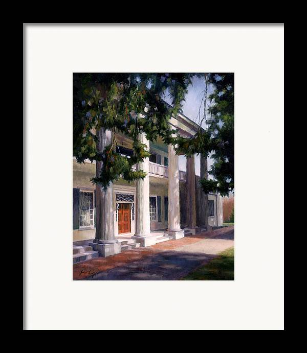 Architecture Framed Print featuring the painting The Hermitage by Janet King