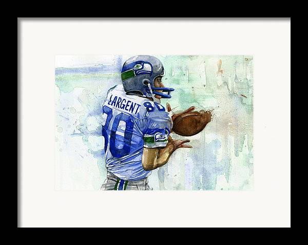 Steve Framed Print featuring the painting The Largent by Michael Pattison