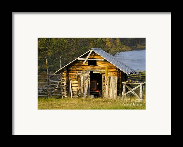 Heiko Framed Print featuring the photograph The Old Barn by Heiko Koehrer-Wagner