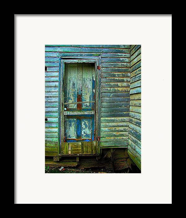 Old Doors Framed Print featuring the photograph The Old Blue Door by Julie Dant