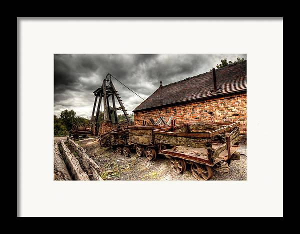 Architecture Framed Print featuring the photograph The Old Mine by Adrian Evans