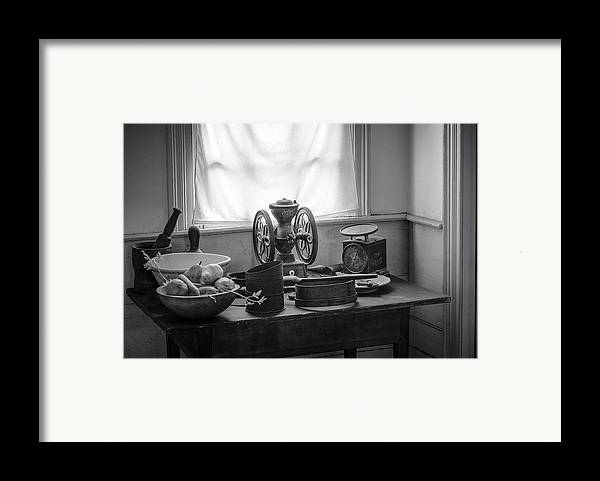 Nostalgic Framed Print featuring the photograph The Old Table By The Window - Wonderful Memories Of The Past - 19th Century Table And Window by Gary Heller