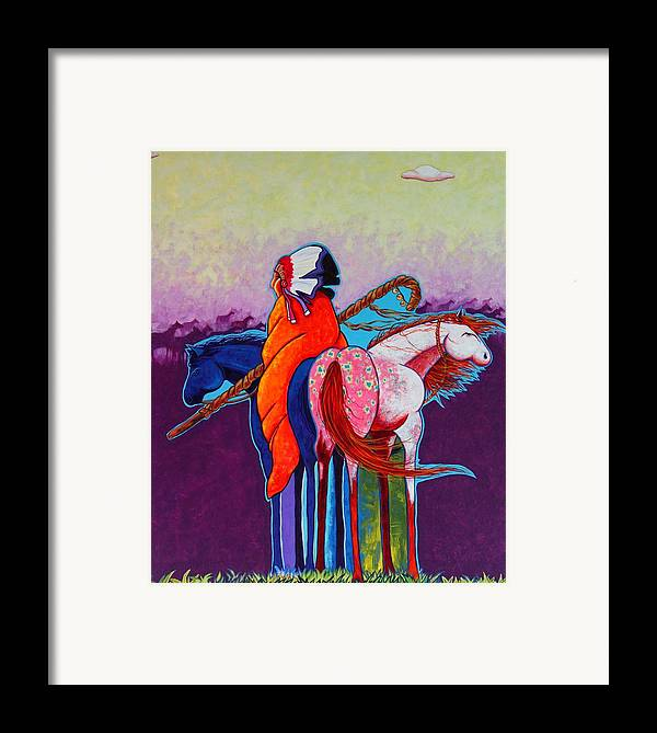 Native American Framed Print featuring the painting The Peacemakers Gift by Joe Triano