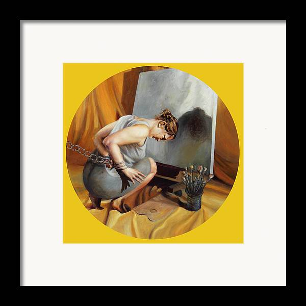 Shelley Irish Framed Print featuring the painting The Restricted by Shelley Irish