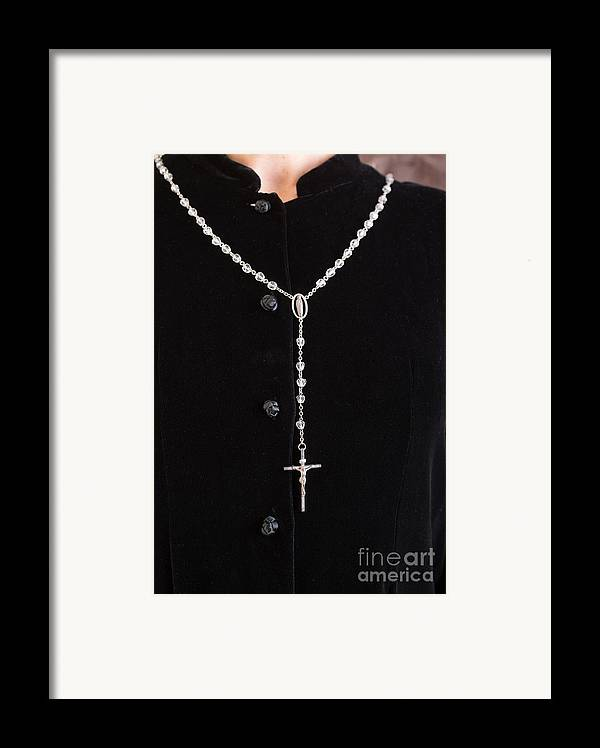 Book Framed Print featuring the photograph The Rosary by Edward Fielding