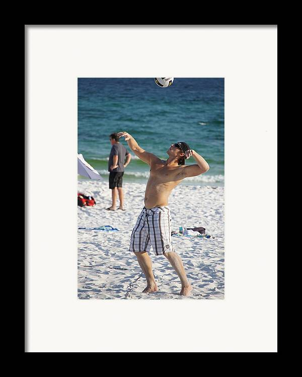Volleyball Framed Print featuring the photograph The Serve by JD Harvill