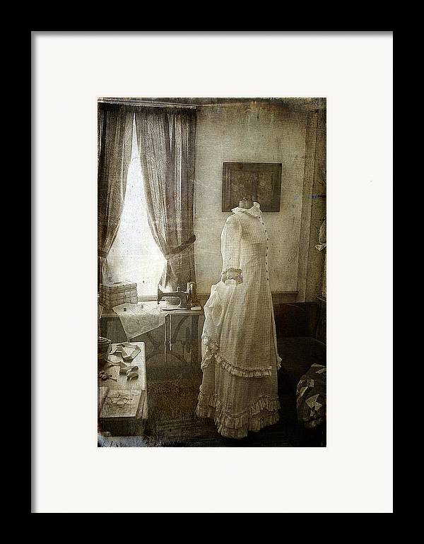 Cindi Ressler Framed Print featuring the photograph The Sewing Room by Cindi Ressler