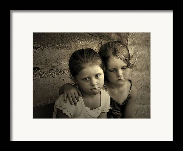 Sisters Framed Print featuring the photograph The Sisters by Julie Dant