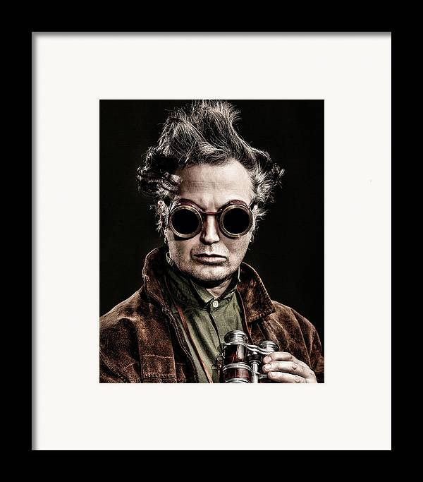Steampunk Framed Print featuring the photograph The Steampunk - Sci-fi by Gary Heller