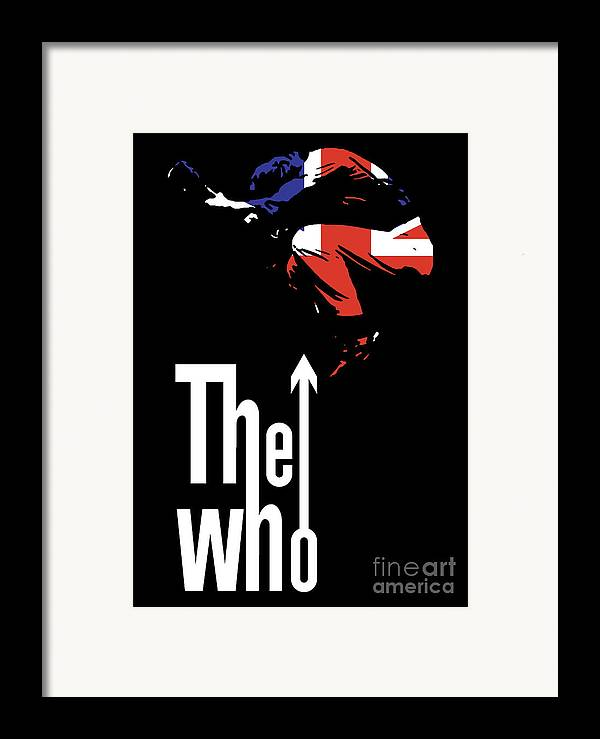 The Who Framed Print featuring the digital art The Who No.01 by Caio Caldas