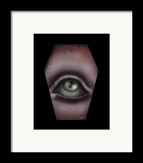 Eye Framed Print featuring the painting The Window IIi by Abril Andrade Griffith