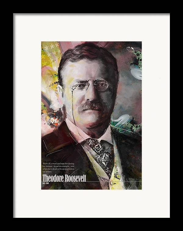 Theodore Roosevelt Framed Print featuring the painting Theodore Roosevelt by Corporate Art Task Force