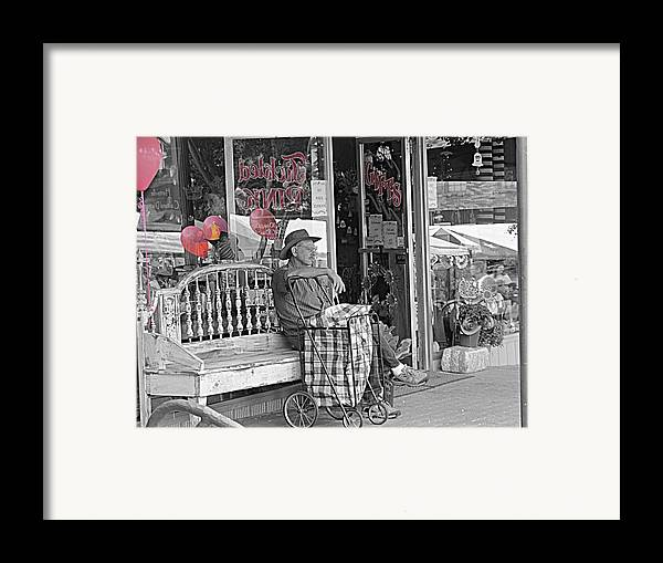 Pink Framed Print featuring the photograph Tickled Pink by Bartz Johnson