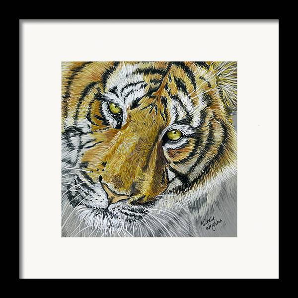 Tiger Framed Print featuring the painting Tiger Painting by Michelle Wrighton