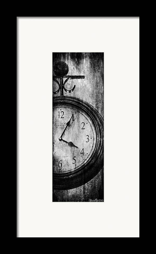 Clock Framed Print featuring the digital art Time by Sheena Pike