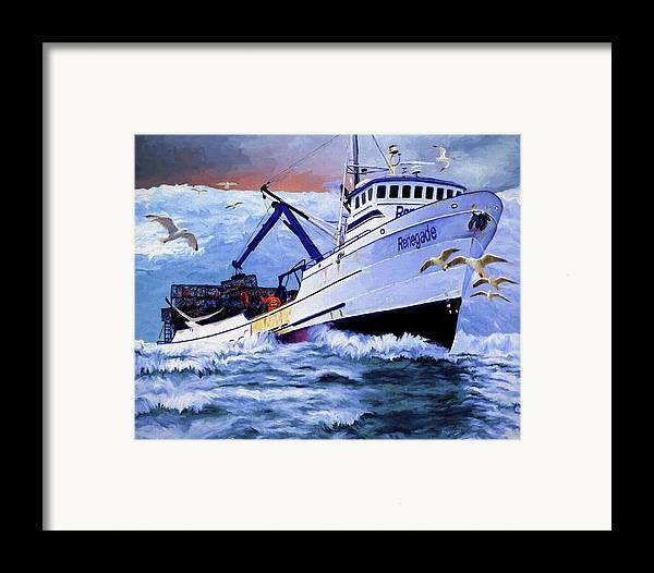 Alaskan King Crabber Framed Print featuring the painting Time To Go Home by David Wagner
