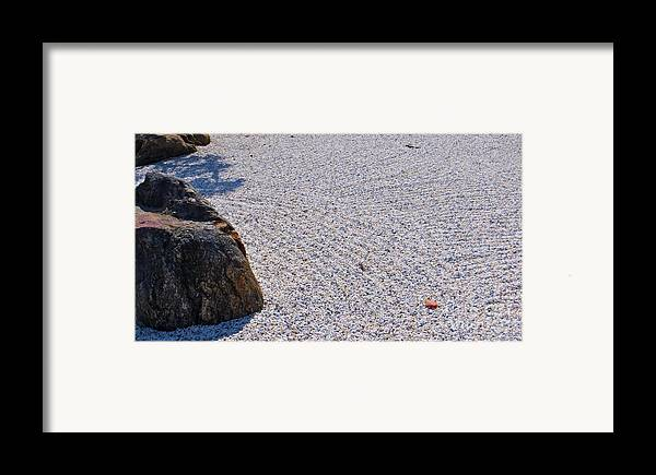 Japanese Style Gardens Framed Print featuring the photograph Timeless Zen by Joy Hardee