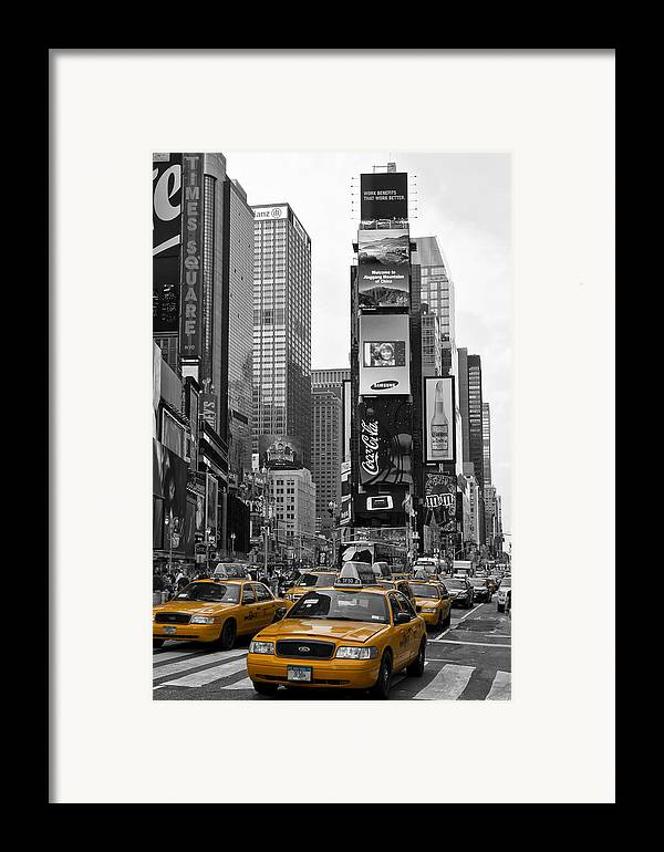 Manhattan Framed Print featuring the photograph Times Square Nyc by Melanie Viola