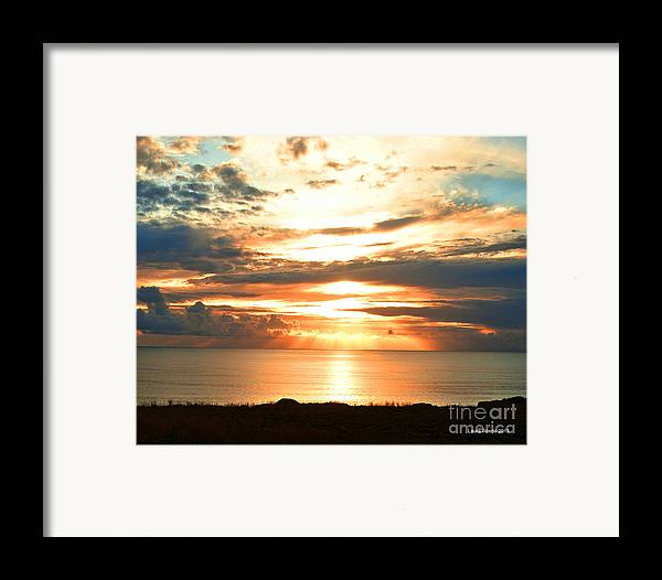Beach Art Framed Print featuring the photograph Tomorrow Is A New Day- Beach At Sunset by Artist and Photographer Laura Wrede