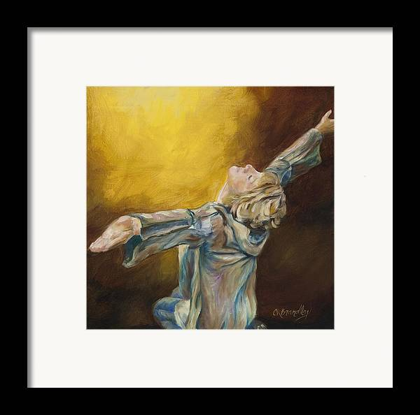 Praise Framed Print featuring the painting Total Abandon by Chris Brandley