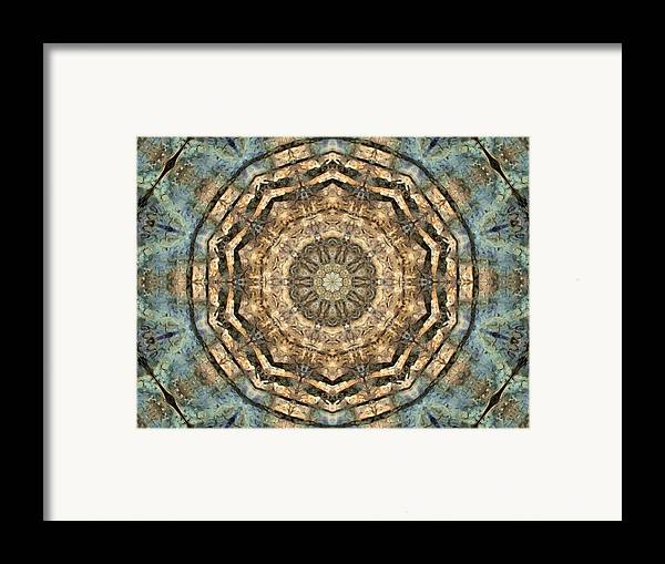Abstract Framed Print featuring the digital art Touched By Light by Tom Druin