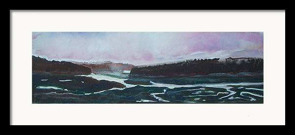 Maine Framed Print featuring the pastel Towards Edgecomb by Grace Keown