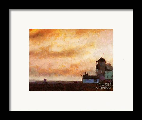 Impressionist Framed Print featuring the painting Towards The Shore by Pixel Chimp