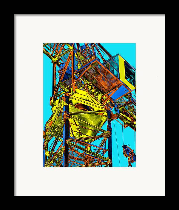 Tower Crane Framed Print featuring the photograph Towering 5 by Wendy J St Christopher