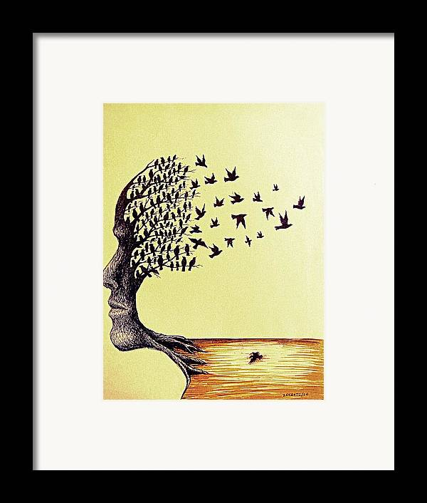 Ideals Framed Print featuring the digital art Tree Of Dreams by Paulo Zerbato