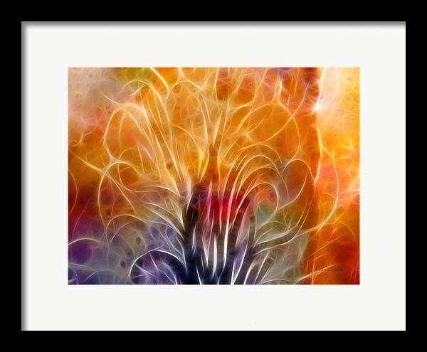 Abstract Framed Print featuring the digital art Tree Of Life by Ann Croon
