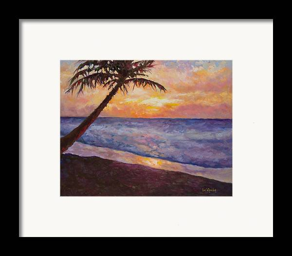 Beach Framed Print featuring the painting Tropical Interlude by Eve Wheeler