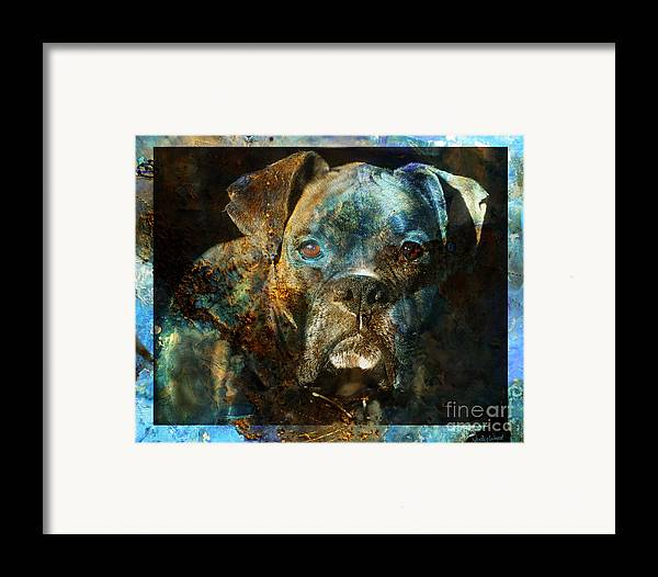 Dog Framed Print featuring the digital art True Colours by Judy Wood