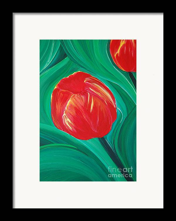 First Star Art Framed Print featuring the painting Tulip Diva By Jrr by First Star Art