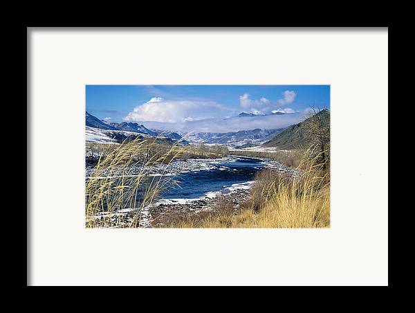 East Siberia; Eatern Siberia; Siberia; Autumn; Fall; Landscape; Mountainous; Mountains; Nature; Nobody; Outdoors; Outside; River; Rivers; Water Framed Print featuring the photograph Tuva by Anonymous