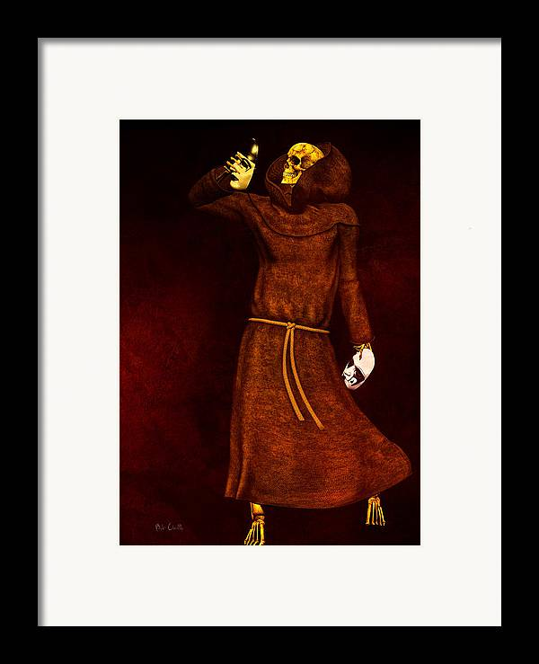 Dead Framed Print featuring the digital art Two Faces Of Death by Bob Orsillo