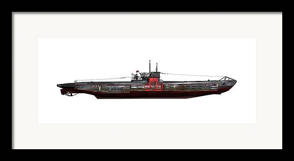 Type Viic/42 Framed Print featuring the photograph Type Viic42 U-boat, Artwork by Science Photo Library