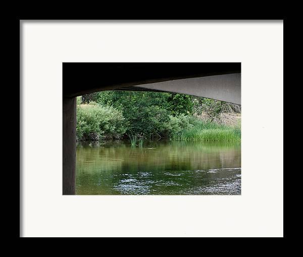 Under The Bridge Framed Print featuring the photograph Under The Bridge by Ernie Echols