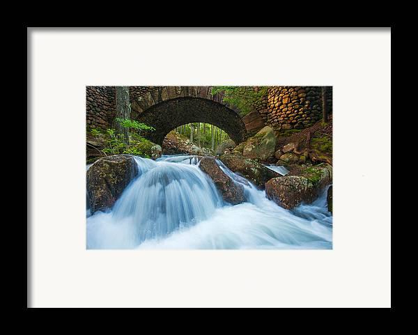 Jordan Stream Framed Print featuring the photograph Under The Bridge by Joseph Rossbach