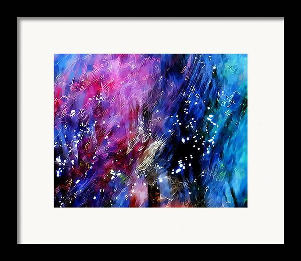 Refracted Light Framed Print featuring the photograph Underwater Galaxy by Terril Heilman