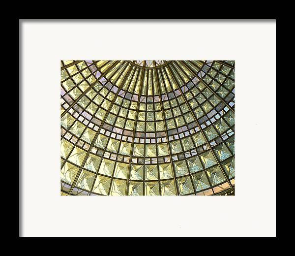 Geometric Abstract Framed Print featuring the photograph Union Station Skylight by Karyn Robinson
