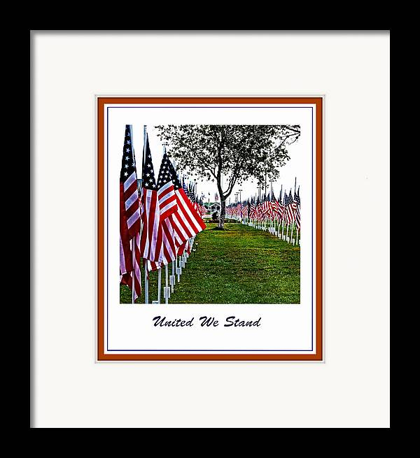 United Framed Print featuring the photograph United We Stand by Ella Kaye Dickey