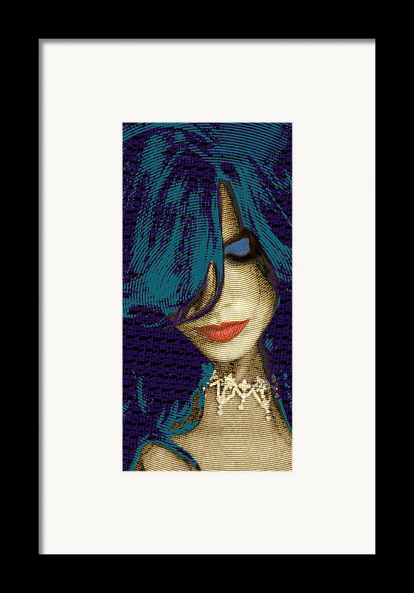 Woman Framed Print featuring the painting Vain 2 by Tony Rubino