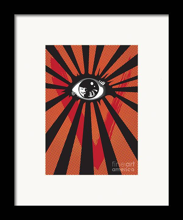 Eyes Framed Print featuring the digital art Vendetta2 Eyeball by Sassan Filsoof