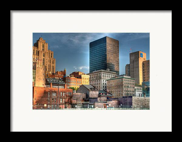 Old Framed Print featuring the photograph vieux Montreal by Elisabeth Van Eyken