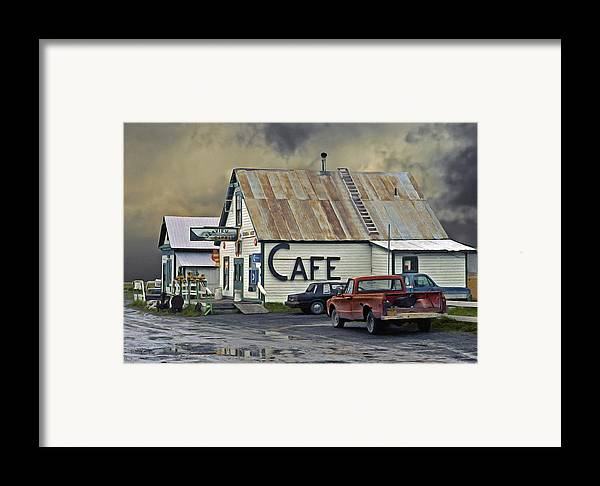 Alaska Framed Print featuring the photograph Vintage Alaska Cafe by Ron Day